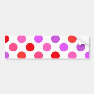La tarjeta del día de San Valentín colorea lunares Pegatina Para Auto