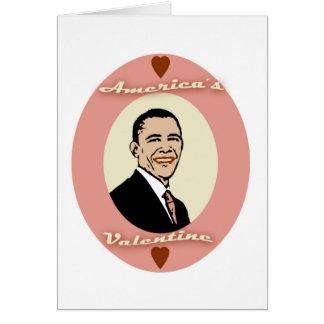 La tarjeta del día de San Valentín de América