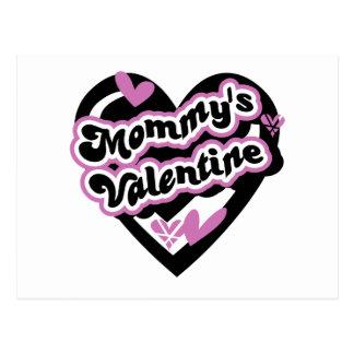 La tarjeta del día de San Valentín de la mamá rosa Tarjetas Postales