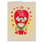 La tarjeta del día de San Valentín de la tarjeta d