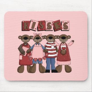 La tarjeta del día de San Valentín de los besos Mouse Pad