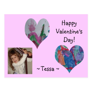 La tarjeta del día de San Valentín de Tessa Tarjetas Postales