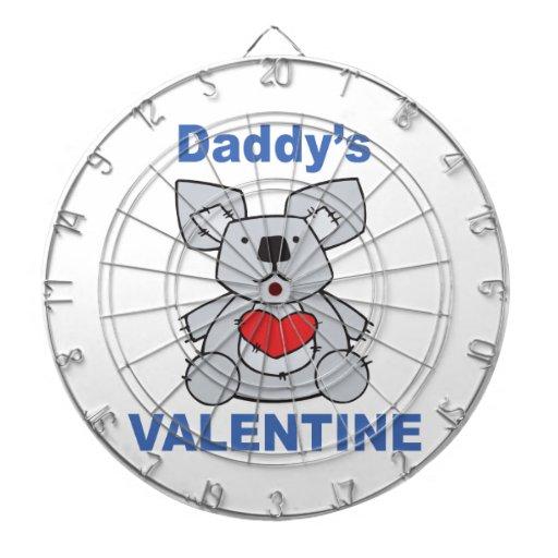 La tarjeta del día de San Valentín del papá Tabla Dardos