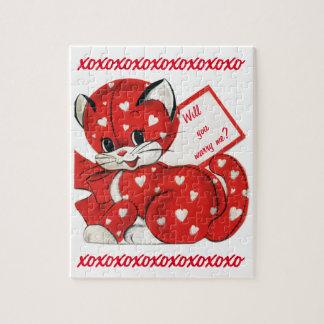La tarjeta del día de San Valentín del vintage me Rompecabeza Con Fotos