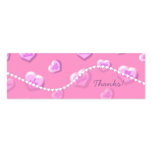 La tarjeta del día de San Valentín le agradece mar Tarjeta De Negocio