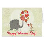 la tarjeta del día de San Valentín linda del