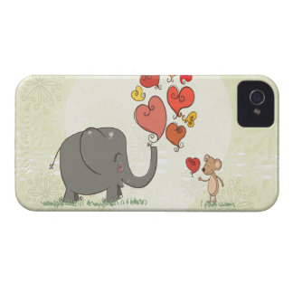 la tarjeta del día de San Valentín linda del iPhone 4 Case-Mate Funda