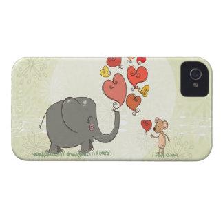 la tarjeta del día de San Valentín linda del iPhone 4 Cárcasas