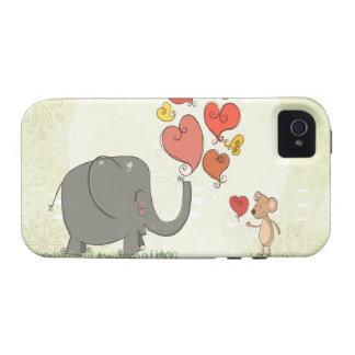 la tarjeta del día de San Valentín linda del Vibe iPhone 4 Carcasa