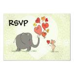 la tarjeta del día de San Valentín linda del Invitación 8,9 X 12,7 Cm