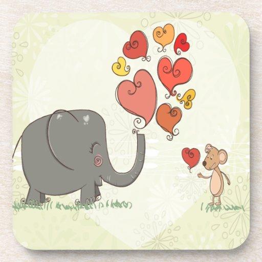 la tarjeta del día de San Valentín linda del Posavaso