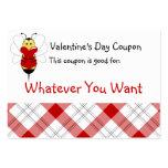 La tarjeta del día de San Valentín manosea la cupó Plantillas De Tarjetas De Visita