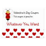 La tarjeta del día de San Valentín manosea la cupó Plantillas De Tarjetas Personales