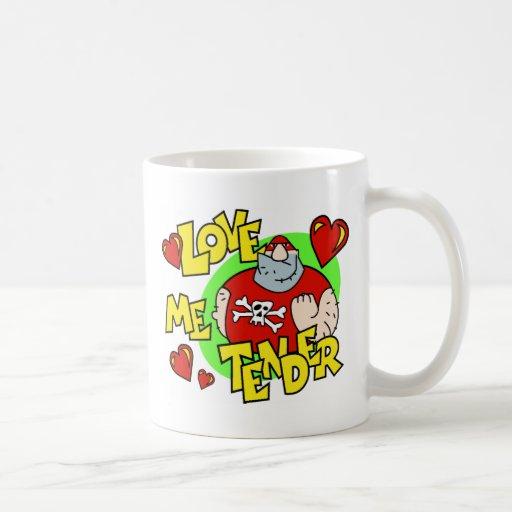 La tarjeta del día de San Valentín me ama blando Taza De Café