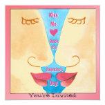 La tarjeta del día de San Valentín me besa Invitación 13,3 Cm X 13,3cm