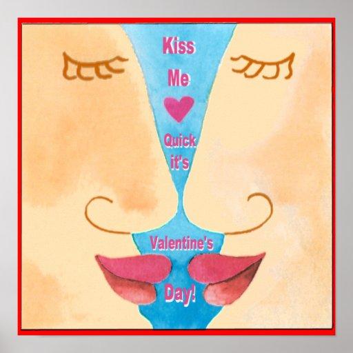 La tarjeta del día de San Valentín me besa poster