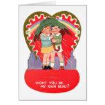 La tarjeta del día de San Valentín retra del vinta