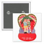 La tarjeta del día de San Valentín retra del vinta Pin