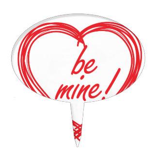 ¡La tarjeta del día de San Valentín sea la mía! Decoraciones Para Tartas