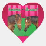 La tarjeta del día de San Valentín sea la mía te Colcomanias De Corazon Personalizadas