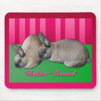 La tarjeta del día de San Valentín sea la mía te Alfombrillas De Ratón
