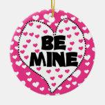 La tarjeta del día de San Valentín sea ornamento Ornamentos De Navidad