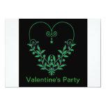 La tarjeta del día de San Valentín verde del Invitación 12,7 X 17,8 Cm