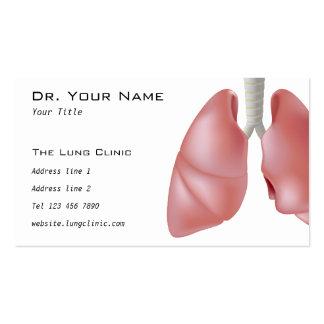 La tarjeta del doctor visita del pulmón tarjetas de visita