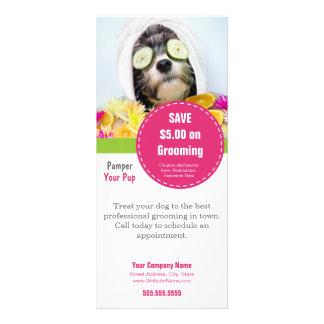 """La tarjeta del estante de la preparación del perro folleto publicitario 4"""" x 9"""""""