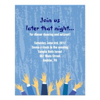La tarjeta del fiesta de Mitzvah del palo de la ba Comunicado Personalizado
