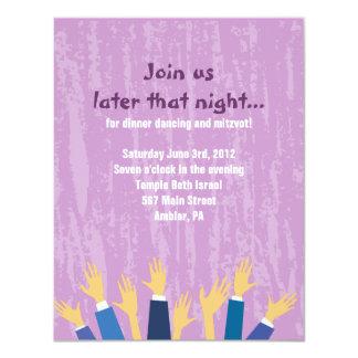 """La tarjeta del fiesta de Mitzvah del palo de la Invitación 4.25"""" X 5.5"""""""
