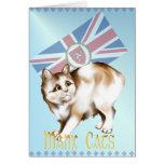 La tarjeta del gato de la Isla de Man