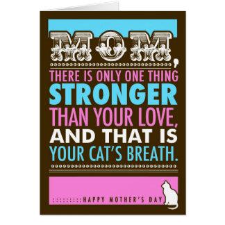 La tarjeta del gato divertido del día de 311 madre