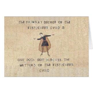 La tarjeta del gremio de los Fisticuffs
