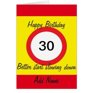 La tarjeta del límite de velocidad de la señal de