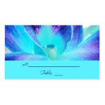 La tarjeta del lugar del boda de la orquídea azul/
