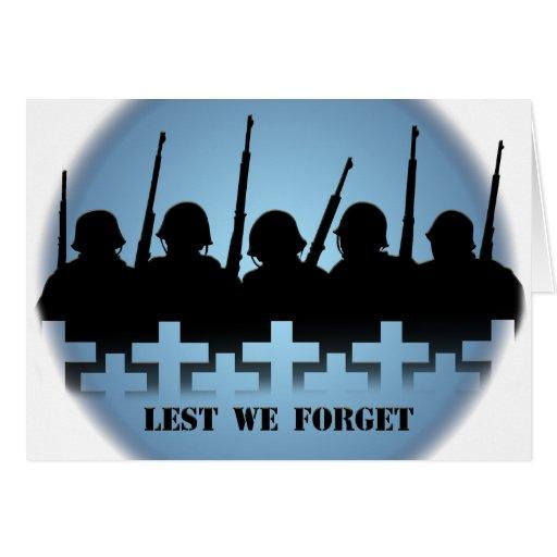 La tarjeta del monumento de guerra personaliza a