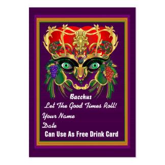 La tarjeta del tiro del carnaval del carnaval ve tarjetas de negocios