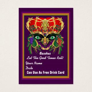 La tarjeta del tiro del carnaval del carnaval ve tarjetas de visita grandes