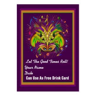 La tarjeta del tiro del carnaval ve notas tarjeta de visita