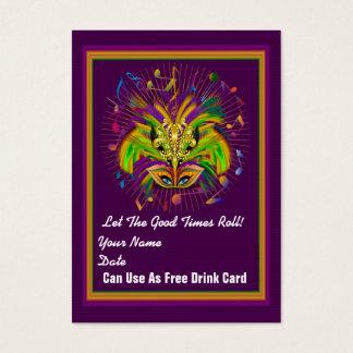 La tarjeta del tiro del carnaval ve notas tarjetas de visita grandes