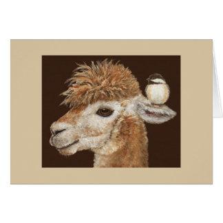 La tarjeta del Whisperer de la alpaca