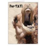 La tarjeta divertida del Año Nuevo del camello, PA