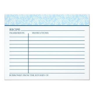"""La tarjeta el   de la receta algo pidió prestado invitación 4.25"""" x 5.5"""""""