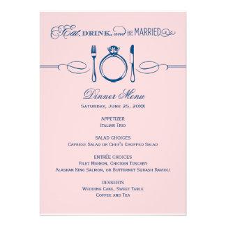 La tarjeta el | del menú de la cena come, bebida y invitacion personal