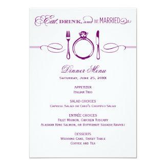 La tarjeta el | del menú de la cena come, bebida y invitaciones personales