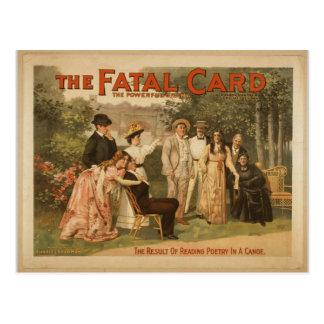 La tarjeta fatal postales