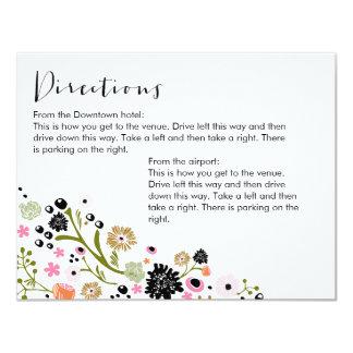 La tarjeta floral de las direcciones Info del ramo Anuncio