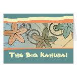 La tarjeta hawaiana grande del día de padre de Kah