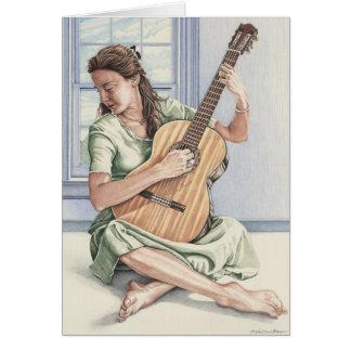 La tarjeta joven del guitarrista